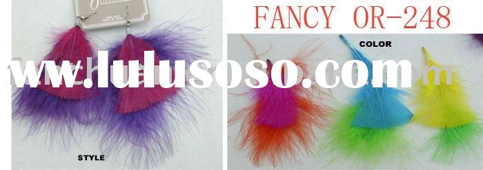 hot sell feather chain earrings