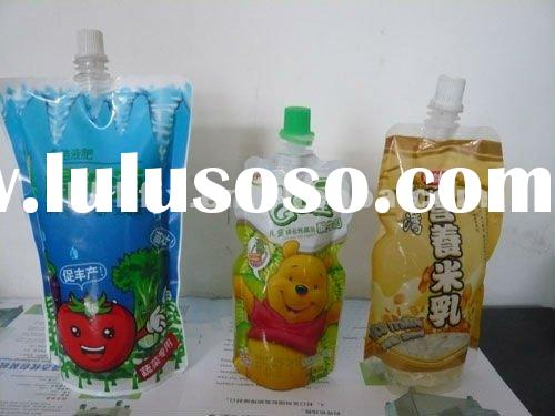juice drink spout pouch bag filling capping machines