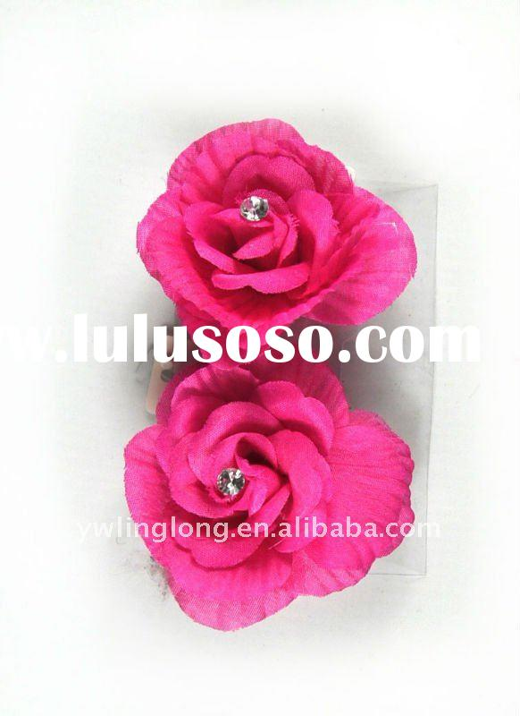 kids fashion hair snap clip with flower