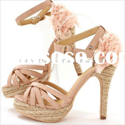 lady high-heeled sandals shoes 2011