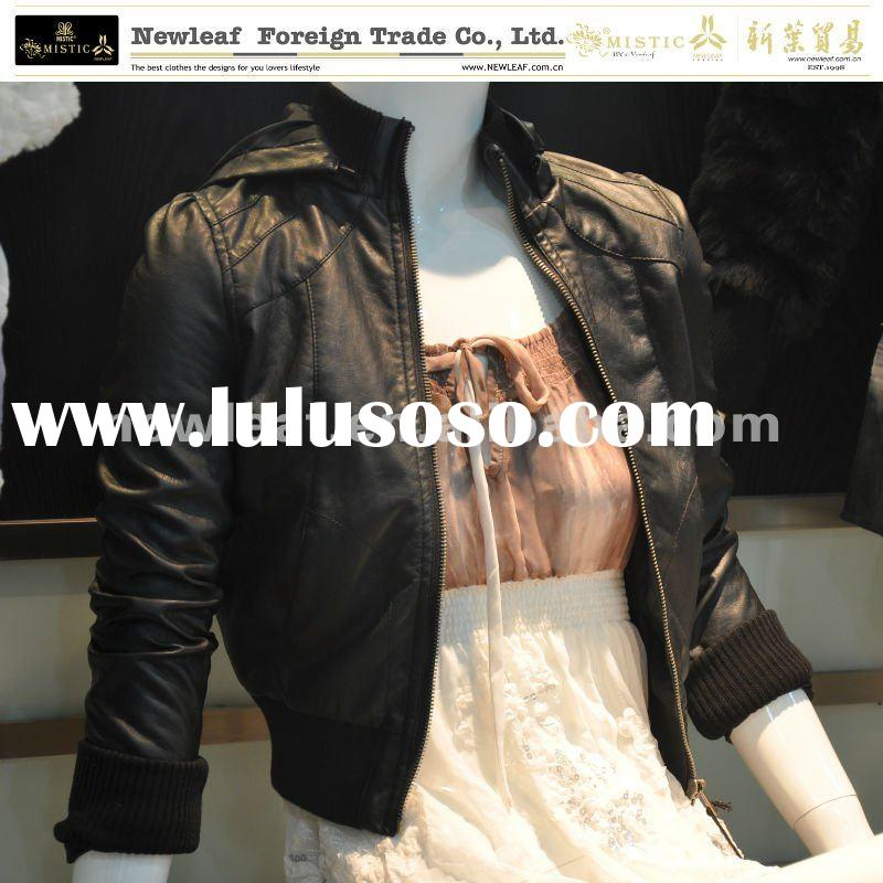 ladys casual leather jackets