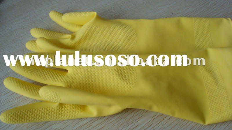 latex flock sprayed household gloves