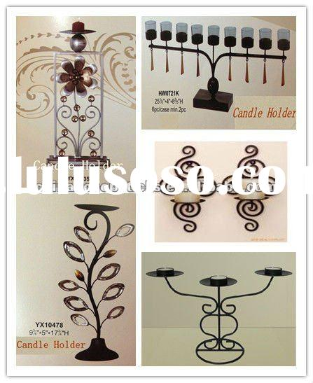 metal candle holder with table top, wall mounted and floor stand