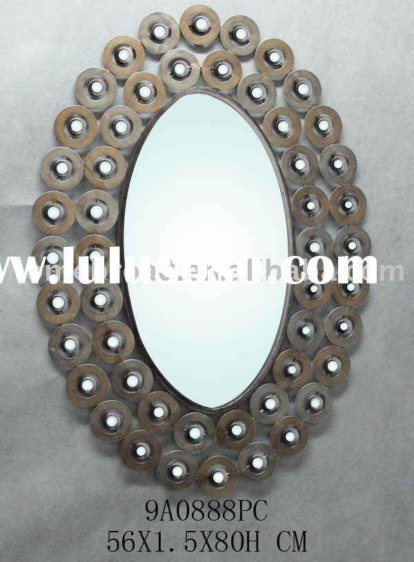 metal oval home decorative wall mirror