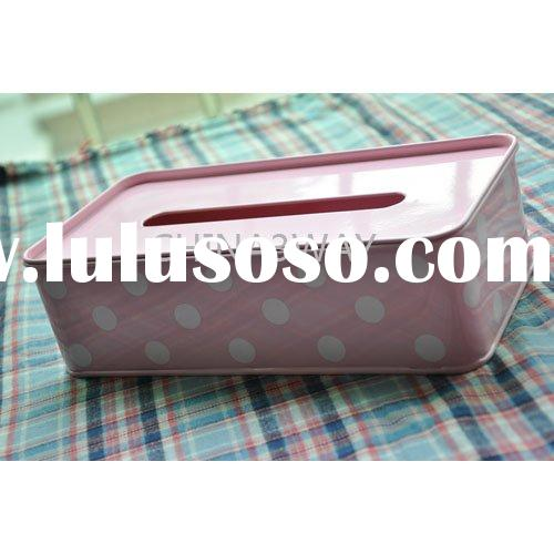 metal tissue dispenser with colour coated