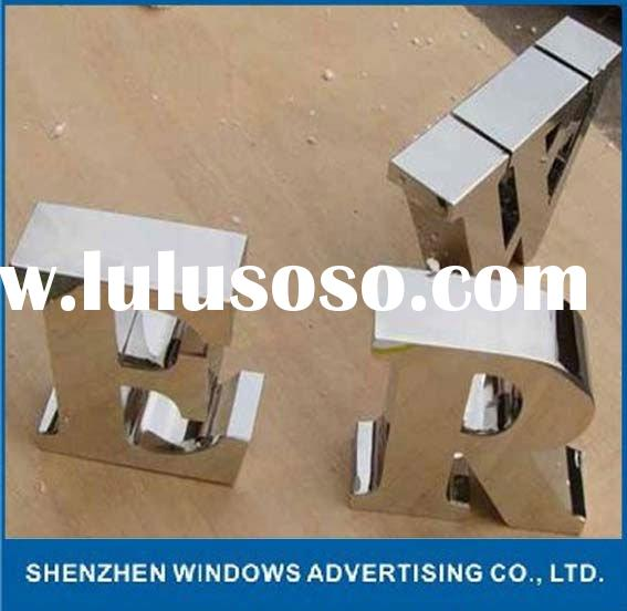mirror polished stainless steel metal letter sign