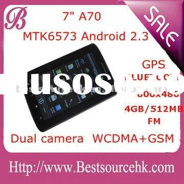 "new 7"" MTK MT6573 Dual SIM card mobile phone capacitive screen Tablet PC Android 2.3 / 3G TV FM"