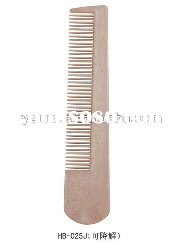 personalized disposable plastic folding comb for hotel use