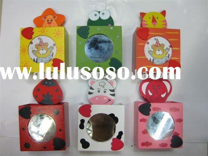 promotional lovely cartoon animal pen holder with mirror