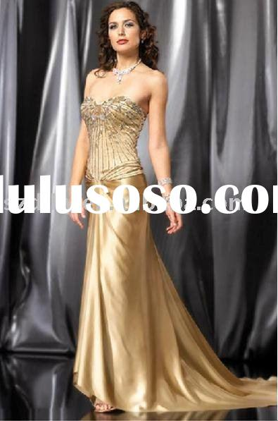 sell unique design high quality spring fashionable evening gown TY4270
