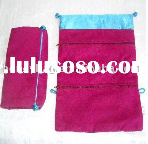 velvet jewelry pouch,suede jewelry pouch