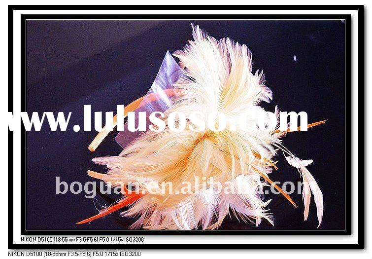 wholesale fashion feather for jewelry making pretty hair hoop