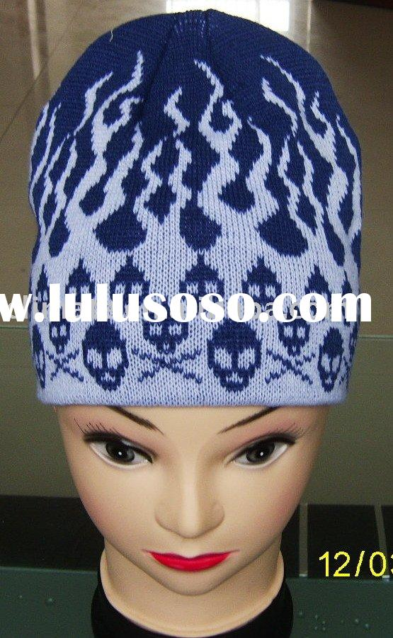 Knitted Skull Hat Pattern : 100% Acrylic knitted hat with visor pattern for sale - Price,China Manufactur...