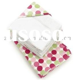 100% cotton terry baby hooded towel