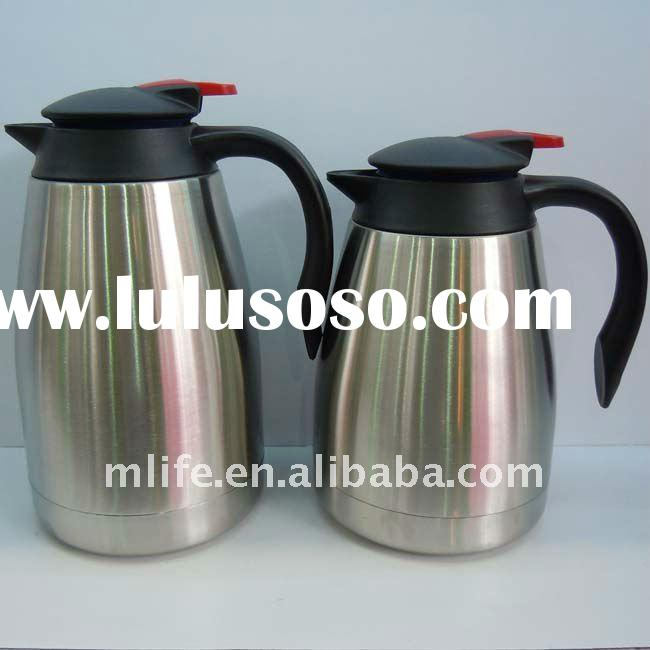 1.2L/1.5L recycled double wall stainless steel coffee kettles