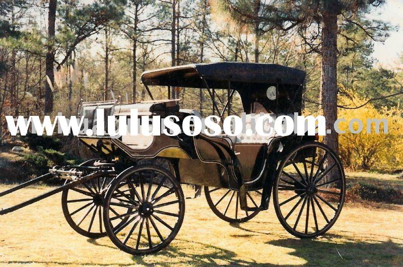 2011 HOT SELLER top grade sightseeing horse carriage with hood
