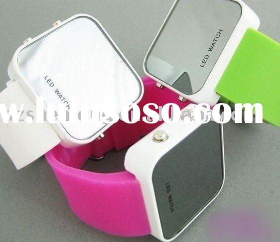 2011 Hot sale fashion silicone led watch