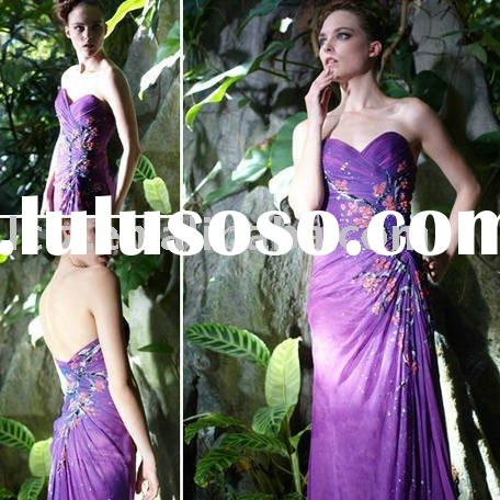 2011 Newest fashion purple long evening dress C5630\5 mother of bride dress