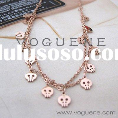 2011 fashion skull stainless steel necklace,cool necklace