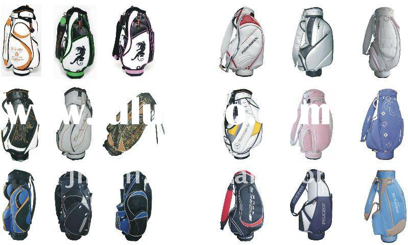2011 hot selling colorful embroidery golf bag with shouder strap