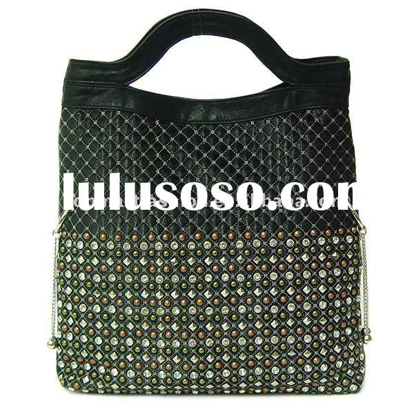 2011 newest fashion lady handbag and Quilted Stud Fold-Over Tote
