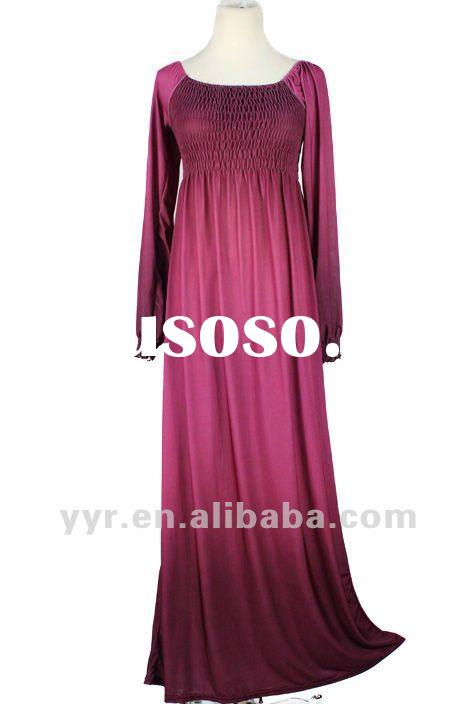 2012 Fashion Lady Waist Tight Long Sleeve Maxi Dresses,Wholesale and Retail,YYH-BDF1042#