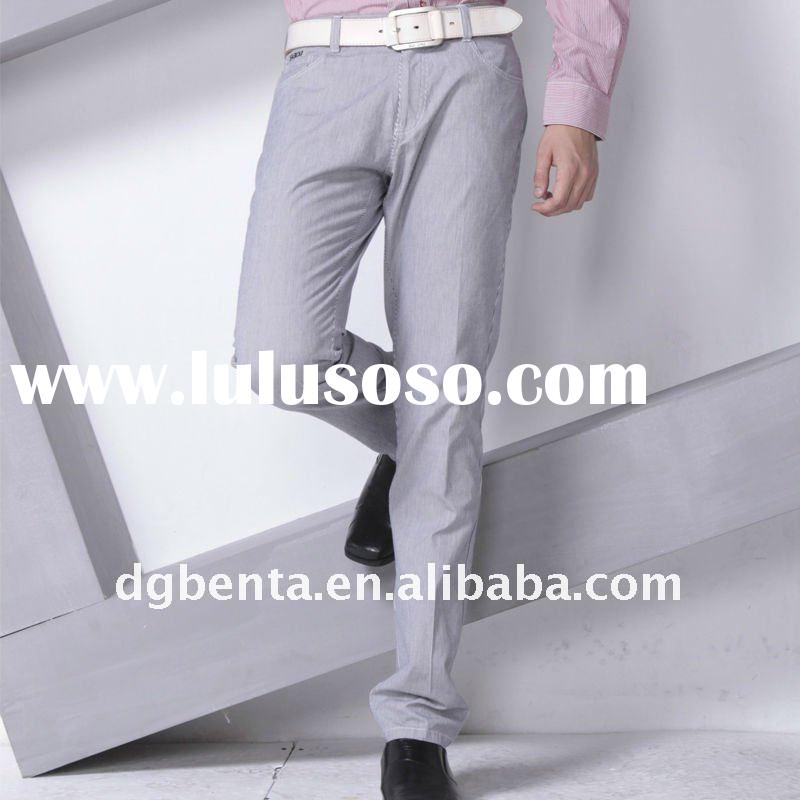 2012 Hot Sell Newest Design Fashion High Quality Formal Business Cotton Trousers Pants