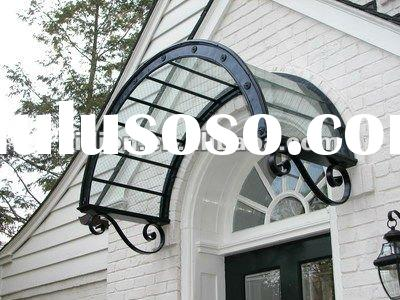 2012 hot sale china manufacturer custom hand forged awning for window,door