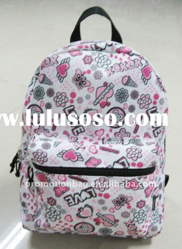 600D Polyester printed canvas backpack bag