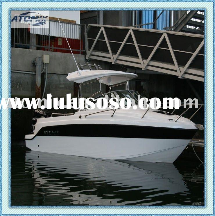 6m Fiberglass Hard Top Boat with outboard engine (600 Hard Top Convertible)