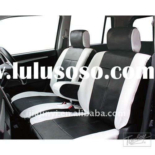 American style black and white leather car seat cover