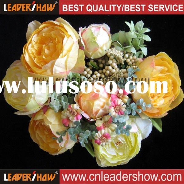 Artificial Fabric Flowers Silk Peony