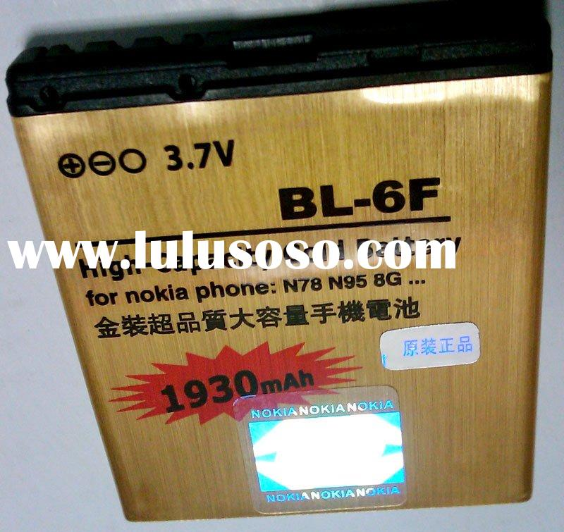 BL-6F High-Capacity Gold Battery 1930 mAh FOR N78 N95 8G PHONE **over 500pcs free shipping *