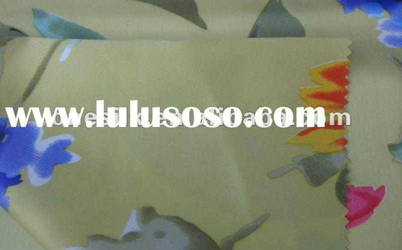 Batterfly printed 19m/m silk satin fabric for dress
