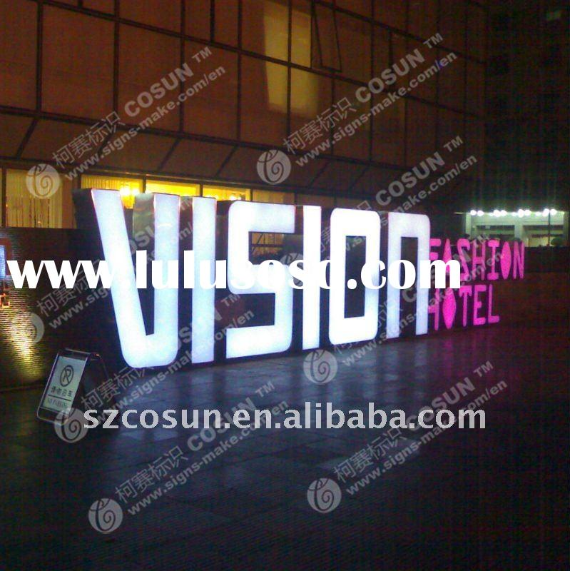 Big Aluminum led channel Letter