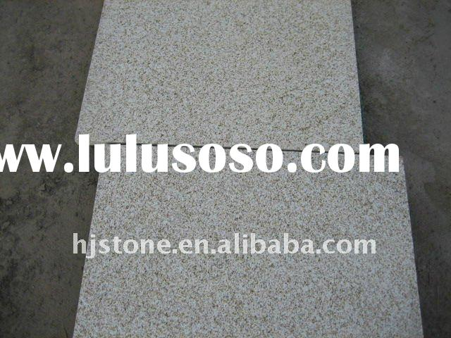 Bush hammered finishing yellow granite for out door floor