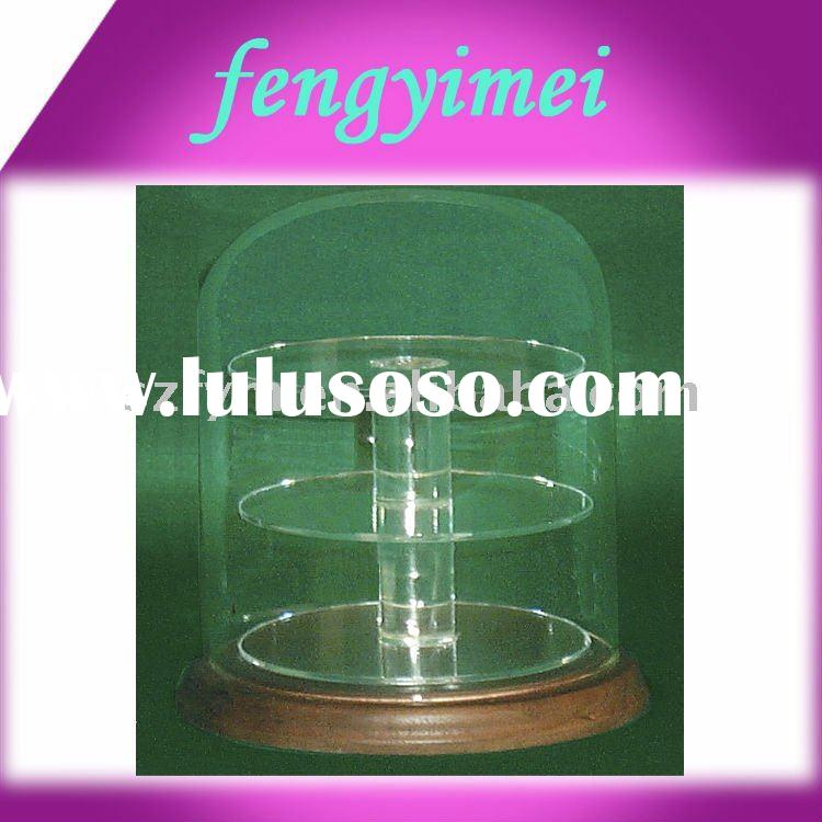 Clear Acrylic Domes with wood base