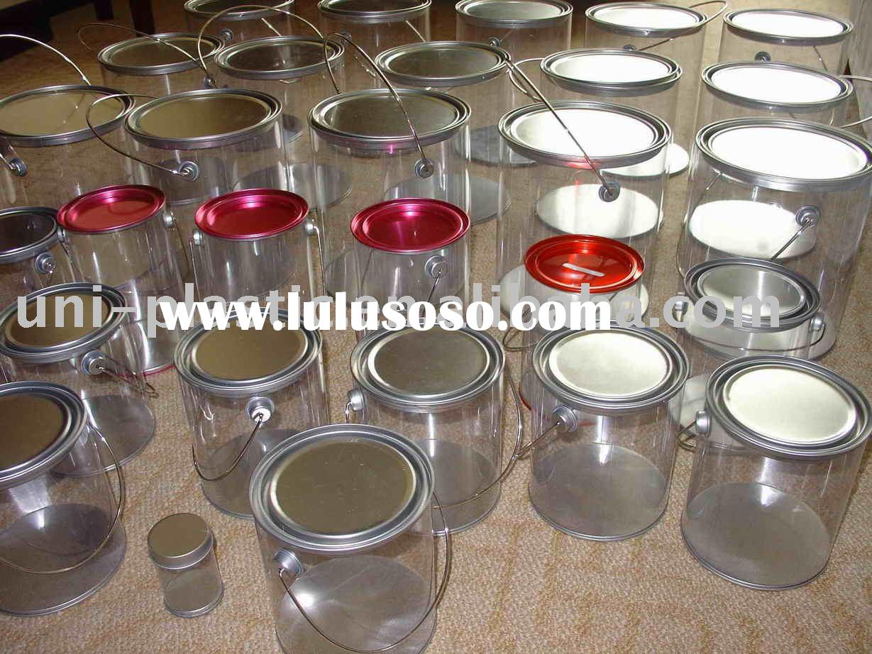 Clear Paint Can, Paint Can, PVC Bucket,Clear Buckets