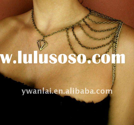Diamond body shoulder chain necklace factory direct 2011 high end fashion jewelry