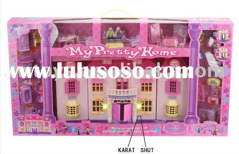 Doll house with light and music