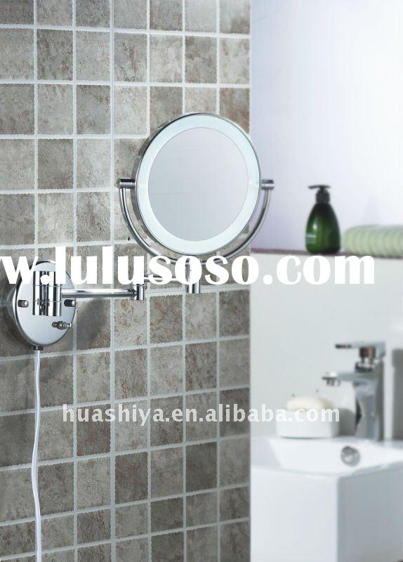 Double side wall-mounted led magnifying shaving bathroom makeup mirror (Model No: HSY-97)
