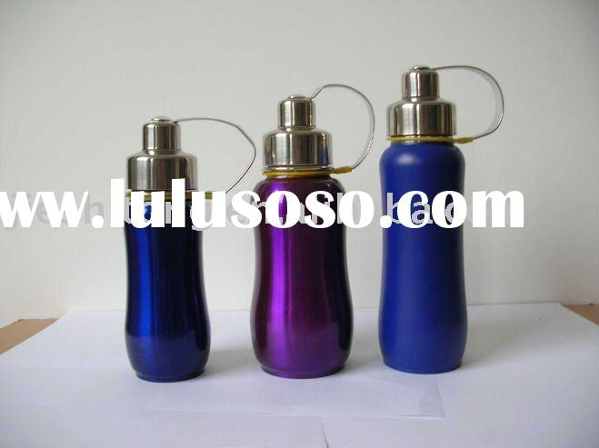 Double wall Stainless Steel water bottle with curve shape FDA approved