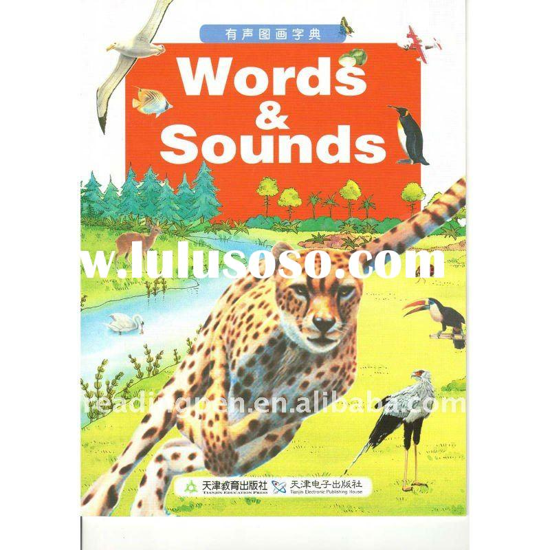 English words learning sounding book, english story learning book