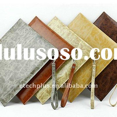 Envelope-Design Easy to Carry Document Bag Leather Case for iPad / iPad 2