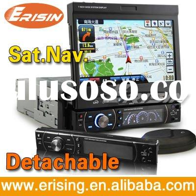 Erisin 7 Inch 1 Din Car Multimedia System Touchscreen GPS TV Bluetooth Radio Anti-Theft