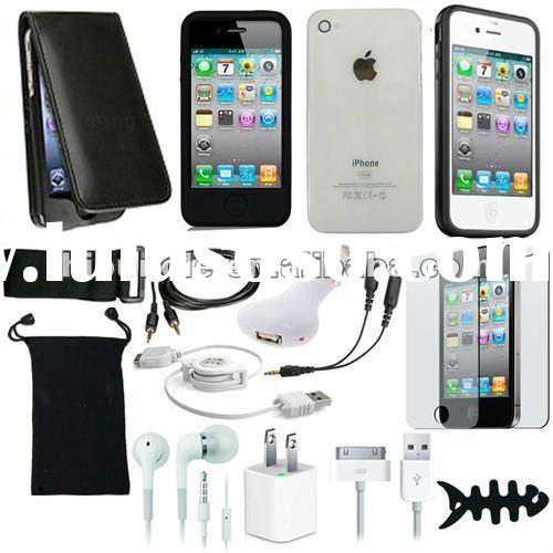 FOR APPLE IPHONE 4 4G 4S 15ITEM ACCESSORY BUNDLE
