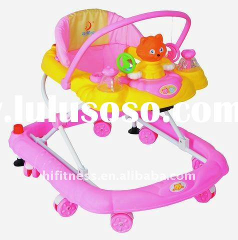 Fashion Design 8 Wheel Baby Walker with Music and Lovely Toys