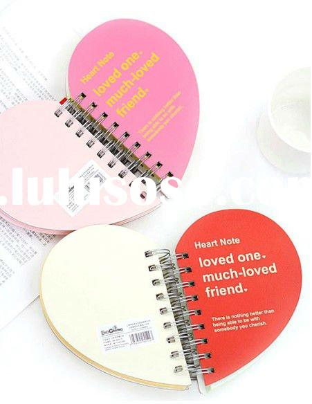 Fashion Heart Coil Book Memo Pad