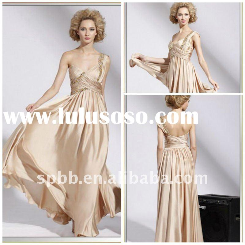 Fashion free shipping latest E-1020 one shoulder floor-length red carpet sequin lace long evening dr
