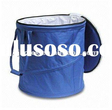 Foldable Ice Bucket with Zipper Cover,